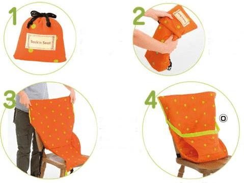 """Детский мобильный стульчик для кормления: цена 980 руб. - купить в интернет магазине детских товаров """"Денма""""."""