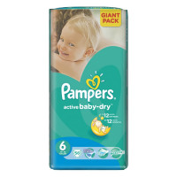 Подгузники Pampers Active Baby-Dry Extra Large (15+)  56 шт