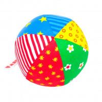 Игрушка Мякиши Мяч с погремушкой Радуга 006