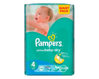 Подгузники Pampers Active Baby Dry Maxi 7-14 кг, 76 шт (4)