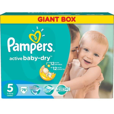 Подгузники Pampers Active Baby Junior 11-18 кг 78 шт (5)
