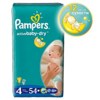 Подгузники Pampers Active Baby-Dry Maxi 7-14/8-14 кг 54 шт (4)