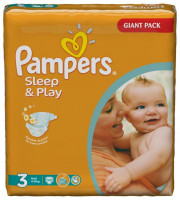 Подгузники Pampers Sleep & Play Midi 4-9 кг 100 шт (3)