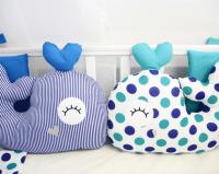ByTwinz Комплект для круглой кроватки с игрушками Маленький кит 7 предметов