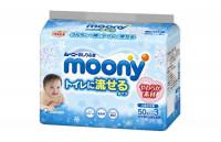Cалфетки MOONY лажные для детей 50x3шт.