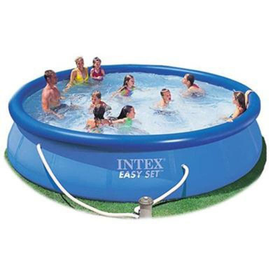 Бассейн надувной Intex Rectangular Ultra Frame Pool Set 56412