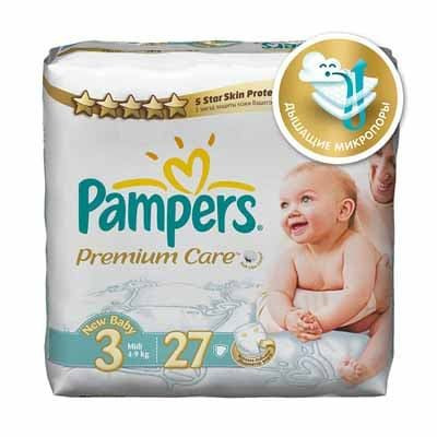 Подгузники Pampers Premium Care Midi 4-9 кг 27 шт (3)