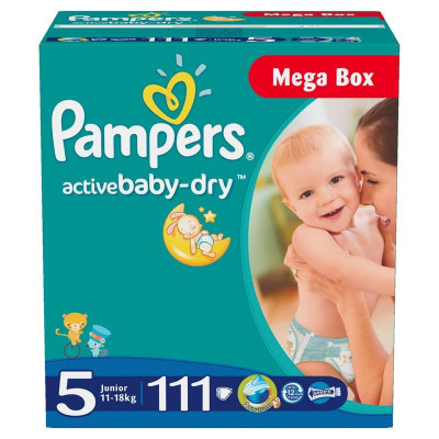 Подгузники Pampers Active Baby 11-18 кг 111 шт Мега (5)