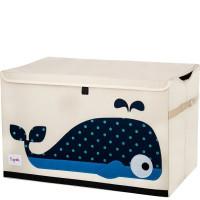 Сундук ящик для хранения игрушек 3 Sprouts Кит с крышкой 27257