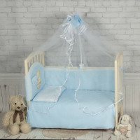Комплект в кроватку Happych Зоопарк 7 предметов Голубой