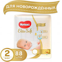Подгузники Huggies Elite Soft 4-7 кг 88 шт. (2)