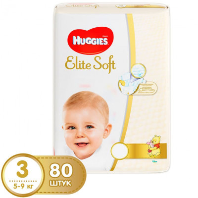 Подгузники Huggies Elite Soft 5-9 кг 80 шт. (3)