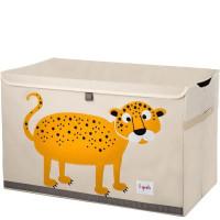Сундук ящик для хранения игрушек 3 Sprouts Леопард с крышкой 27255