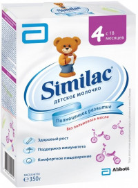 Детская молочная смесь Similac 4 картон с 18 мес 350 г