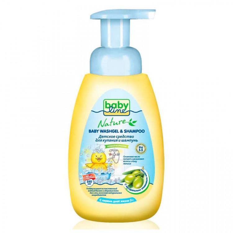 <b>Средство для</b> купания и шампунь <b>BabyLine Nature</b> с маслом ...