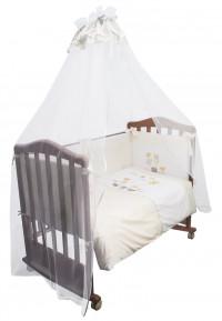 Комплект в кроватку Сонный гномик Пикник 7 предметов