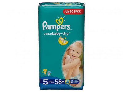Подгузники Pampers Active Baby-Dry Junior 11-18 кг 58 шт (5)