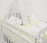 ByTwinz Комплект в кроватку с игрушками Звездочка желтый 4 предмета