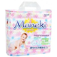Подгузники MANEKI Fantasy МИНИ М (6-11 кг) 24 шт