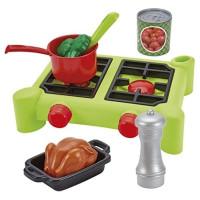 Плита с продуктами Ecoiffier 100% Chef набор с аксессуарами 2649