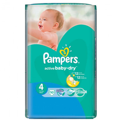 Подгузники Pampers Active Baby-Dry Maxi 7-14 кг 10 шт