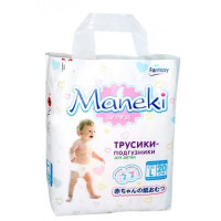 Подгузники-трусики MANEKI Fantasy МИНИ L (9-14 кг) 20 шт