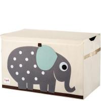 Сундук ящик для хранения игрушек 3 Sprouts Слоник с крышкой 08073