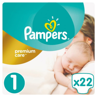 Подгузники Pampers Premium Care Newborn 2-5 кг 22 шт (6)
