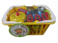 Набор Наша Игрушка посуды в корзине 961042