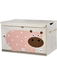 Сундук ящик для хранения игрушек 3 Sprouts Розовый гиппопотам 00018