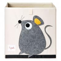 Коробка для хранения вещей и игрушек 3 Sprouts Серая мышка 00041