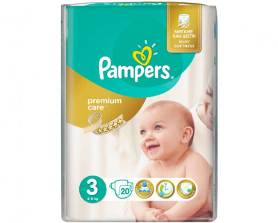 Подгузники Pampers Premium Care Midi 5-9 кг 20 шт (6)