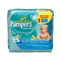 Салфетки Pampers Baby Fresh 3х64 з/блок (3)