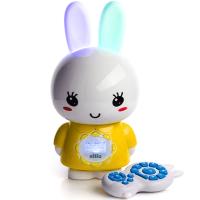 Большой зайка Alilo G7 ночник и плеер детский с пультом управления Веселые зайчики Алило желтый