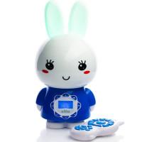 Большой зайка Alilo G7 ночник и плеер детский с пультом управления Веселые зайчики Алило синий