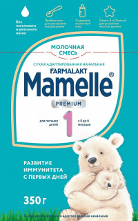 Детская молочная смесь MAMELLE 1 PREMIUM 350 г с 0-6 мес