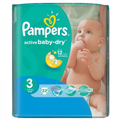 Подгузники Pampers Active Baby Midi 4-9 кг 22 шт (3)