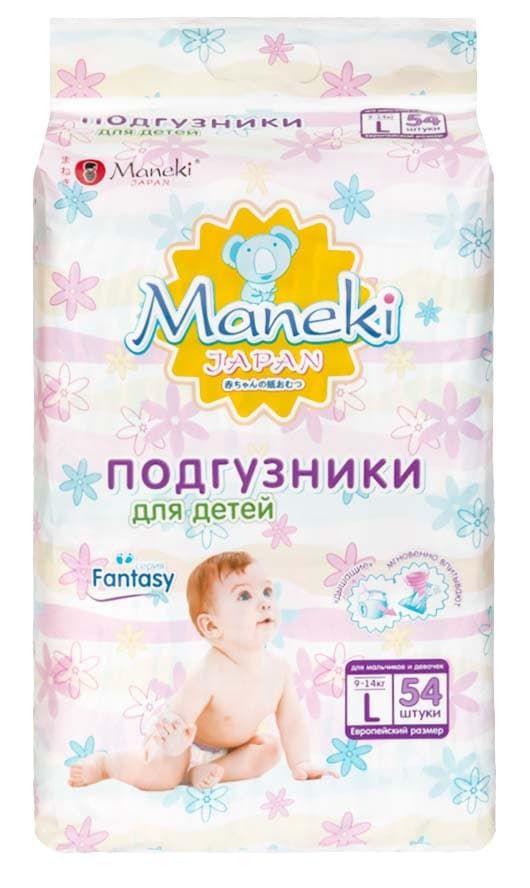 Подгузники MANEKI Fantasy L 9-14 кг 54 шт   Купить недорого товары ... fe03598266e