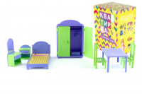 Набор кукольной мебели ПЛАСТМАСТЕР Квартирка 22180