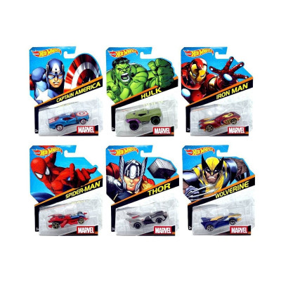 Машинки MATTEL MARVEL Hot wheels BDM71