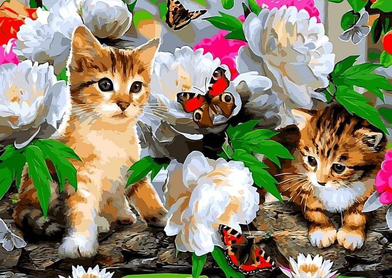 роли были открытки с котятами и цветами подскажите как