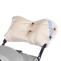 Муфта Baby Care Super Light искусственный мех плащевка белый
