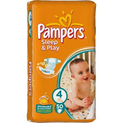 Подгузники Pampers Sleep & Play Maxi 7-14 кг 14 шт (4)
