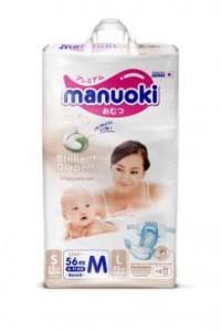Подгузники MANUOKI Brilliance Бриллиантовая серия M 6-11 56 шт