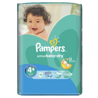 Подгузники Pampers Active Baby Maxi+  9-16 кг 18 шт (4+)