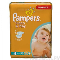Подгузники Pampers Sleep & Play Maxi 7-14 кг 86 шт (4)