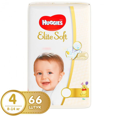 Подгузники Huggies Elite Soft 8-14 кг 66 шт. (4)