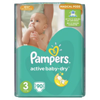 Подгузники Pampers Active Baby Midi 4-9 кг 90 шт