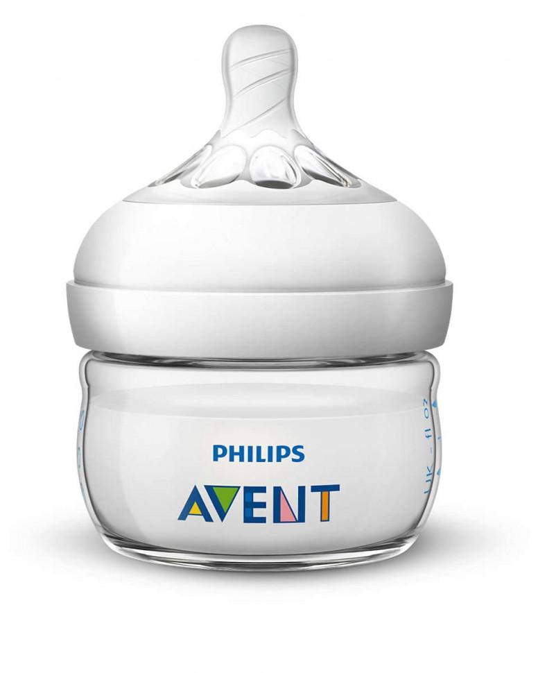Бутылочка для кормления Philips Avent Natural 60 мл 0 ...